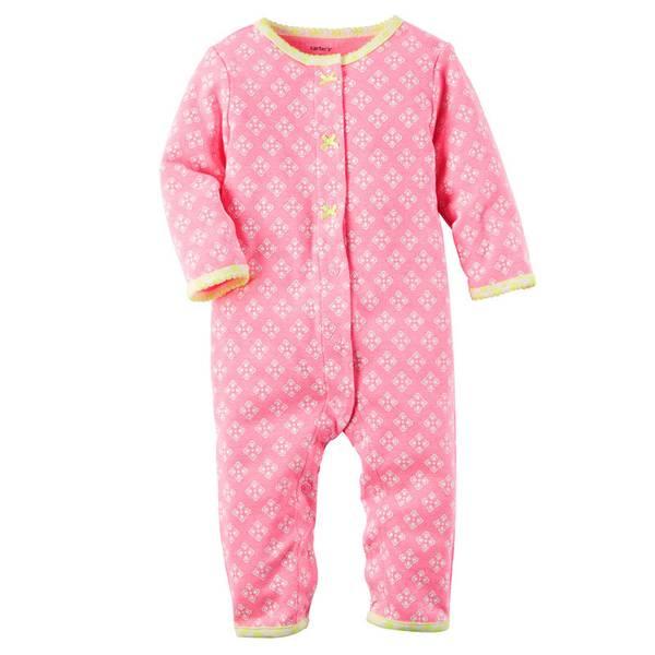 Baby Girls' Neon  Footless Sleep & Play