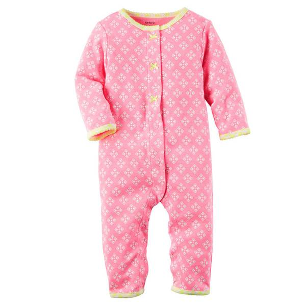Baby Girls' Neon  Footless Sleep & Play