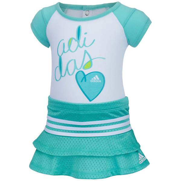 Baby Girl's Multi Colored Two-Piece Love Se