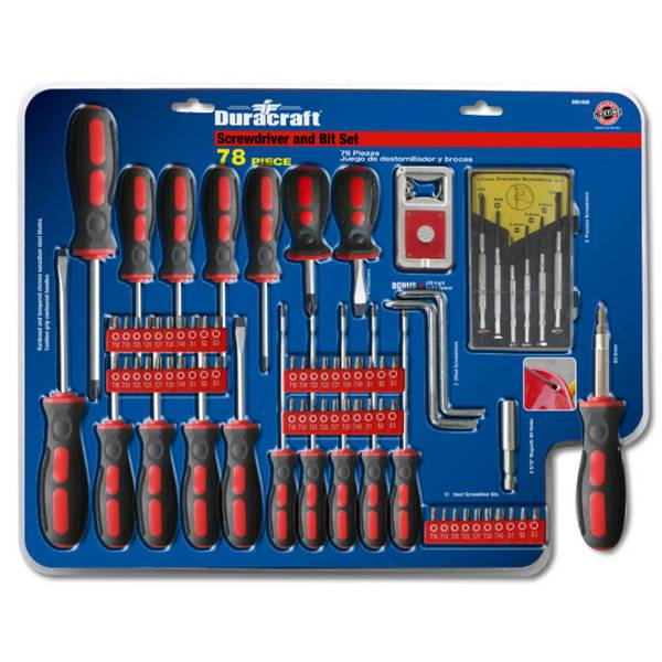 78-Piece Screwdriver & Bit Set