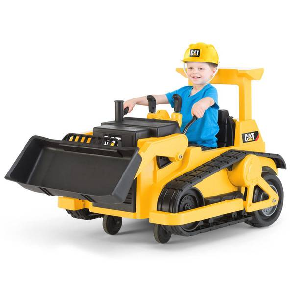 Cat Power Wheels Tractor : Kidtrax cat bulldozer battery powered ride on toy