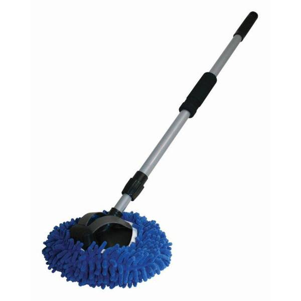 "Autospa Microfiber Chenille Wash Mop with 48"" Extension Pole"