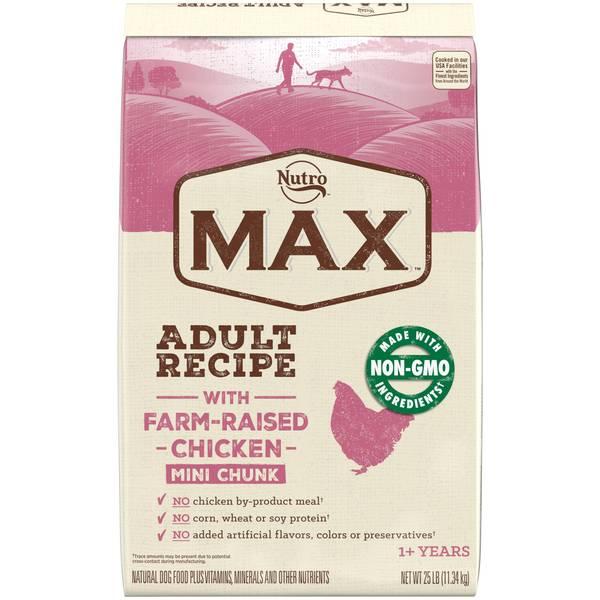 Max Mini Chunk Chicken Natural Adult Dog Food
