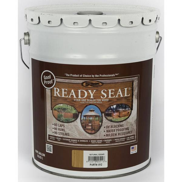 Ready Seal Pail Natural Cedar Exterior Wood Stain And Sealer