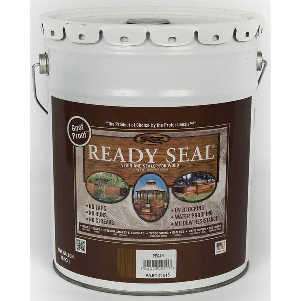 Ready Seal 5 Gallon Pecan Exterior Wood Stain And Sealer