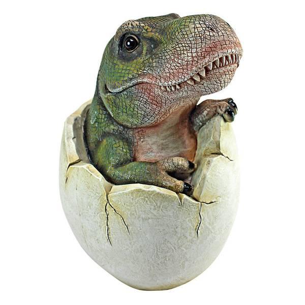 Baby Tyrannosaurus Rex Dino Egg Statue