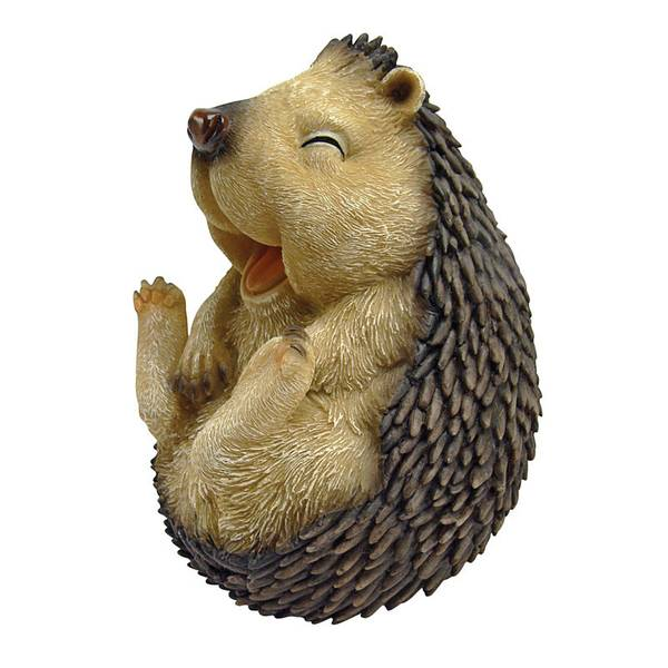 Roly-Poly Laughing Hedgehog Statue