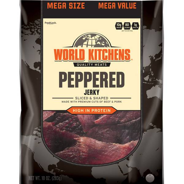 Peppered Sliced & Shaped Beef Jerky