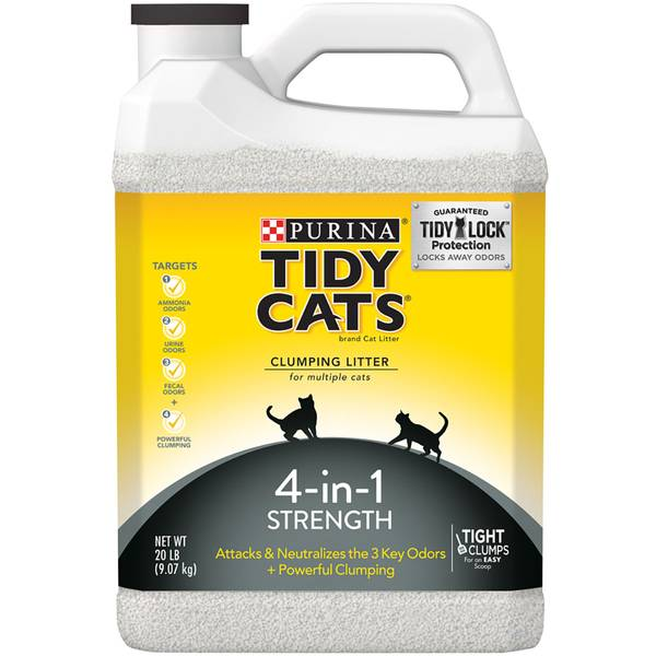 4-in-1 Strength Clumping Litter for Multiple Cats