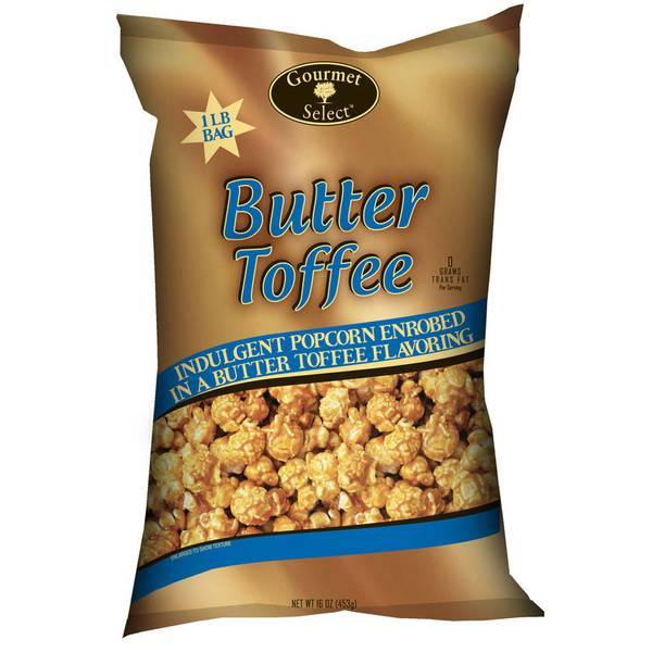 16 oz. Butter Toffee Caramel Corn Bag