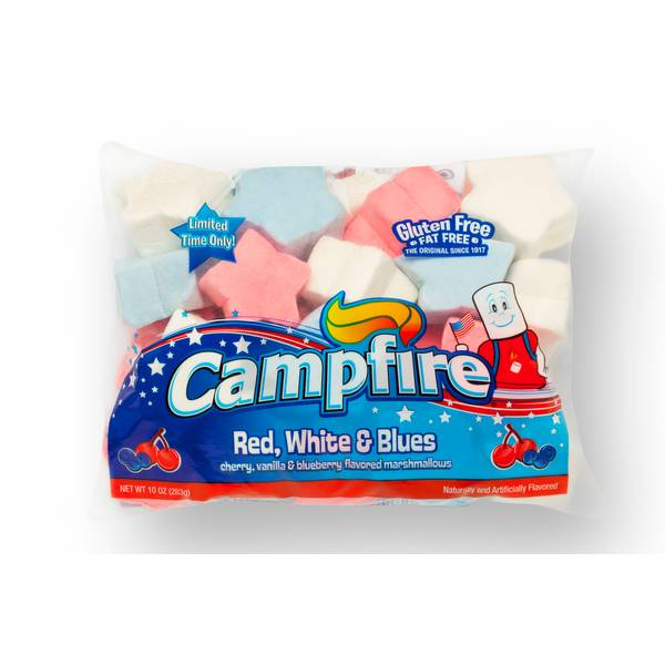 Campfire Red, White, & Blue Marshmallows