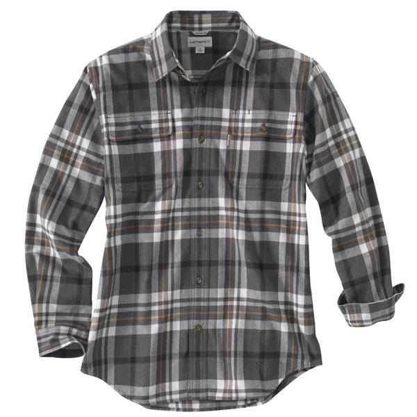 Men's Carbon Heather Long Sleeve Hubbard Plaid Shirt