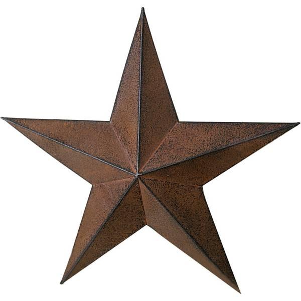 "24"" Metal Rust Black Star"