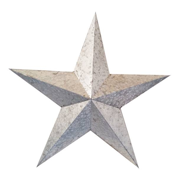 transpac imports inc 24 metal galvanized silver star. Cars Review. Best American Auto & Cars Review