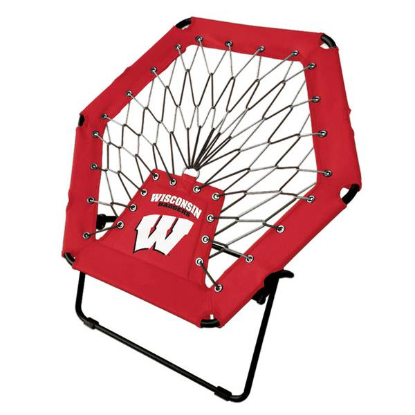 Genial Wisconsin Badgers Red Bungee Chair