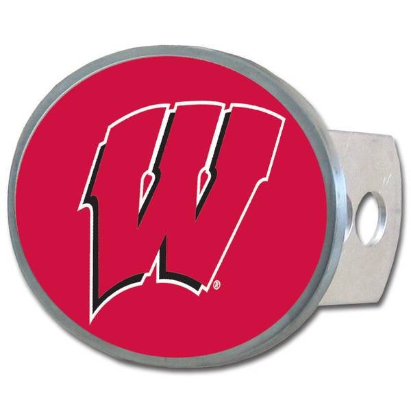 Wisconsin Badgers Oval Hitch Cover