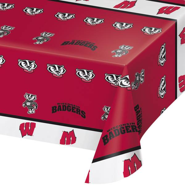 Creative Converting Wisconsin Badgers Banquet Table Cover