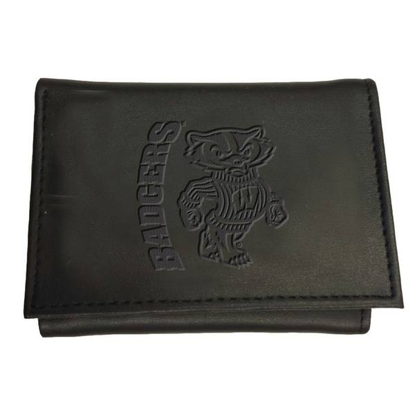 Leather Wisconsin - Madison Badgers Tri-fold Wallet