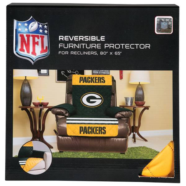 Green Bay Packers Reversible Furniture Protector for Recliner