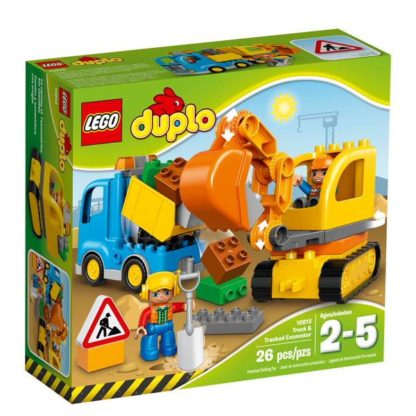 DUPLO Town Truck & Tracked Excavator Building Kit