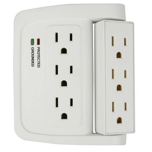 Swivel Space Saving Surge Protector
