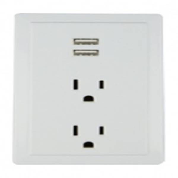 2-Outlet USB Plug In Wall Tap