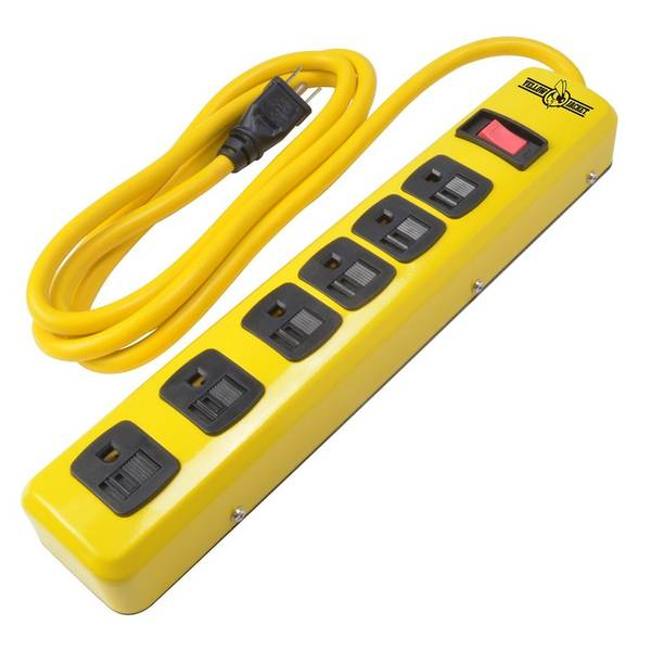 Yellow Jacket Metal Power Strip with 6-Foot Cord