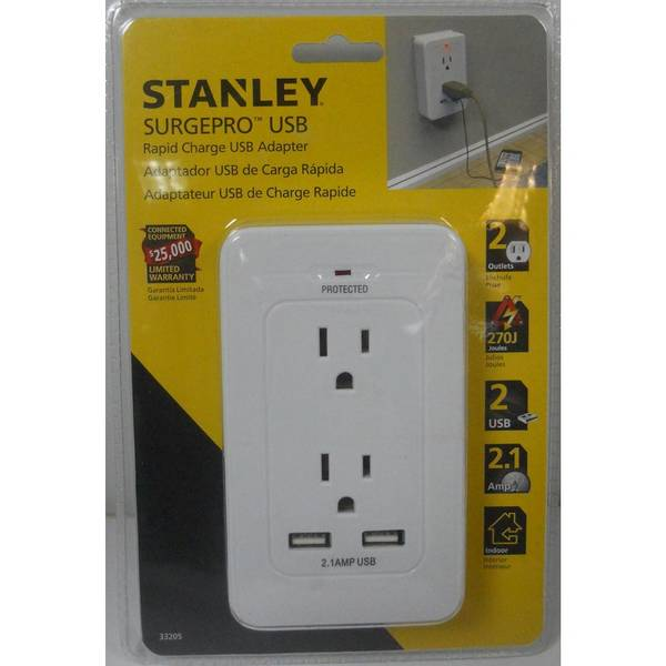 Surgepro 2-Outlet Surge Adapter