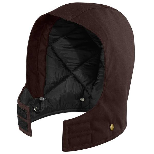 Dark Brown Quilted Sandstone Hood