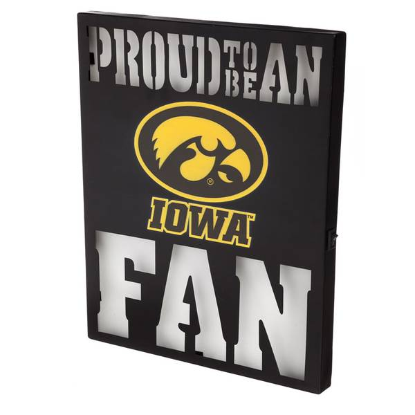 Team sports america iowa hawkeyes metal led wall decor for Iowa hawkeye decor