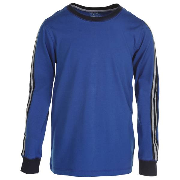 Boys'  Long-Sleeve Pieced Neck T-Shirt