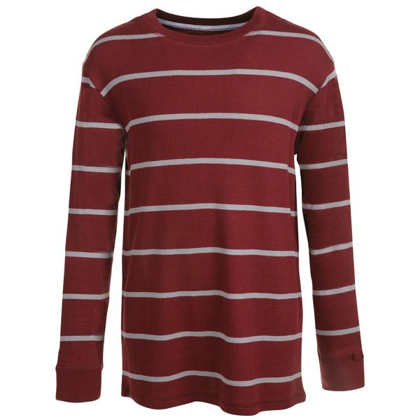 Toddler Boys' Long Sleeve Striped Thermal Tee