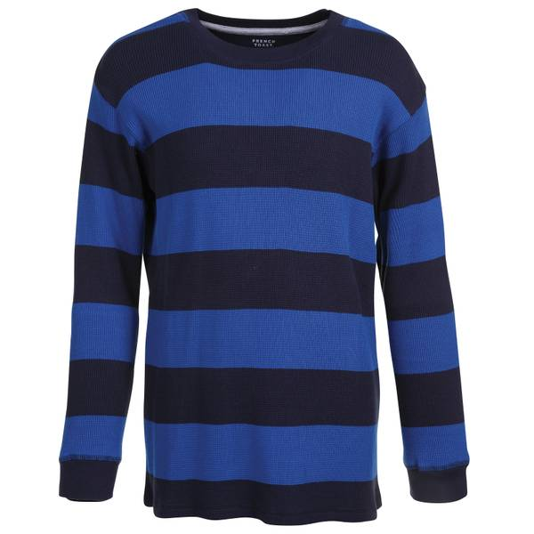 Toddler Boys' Long Sleeve Rugby Stripe Thermal Tee