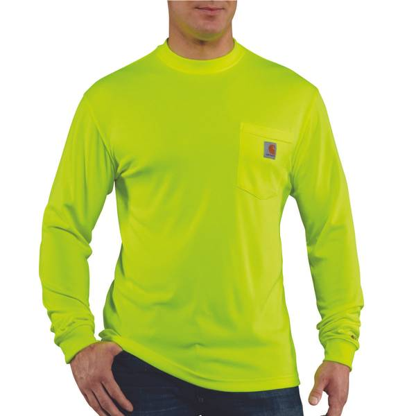 Men's High Visibility Color Enhanced Long Sleeve Tee