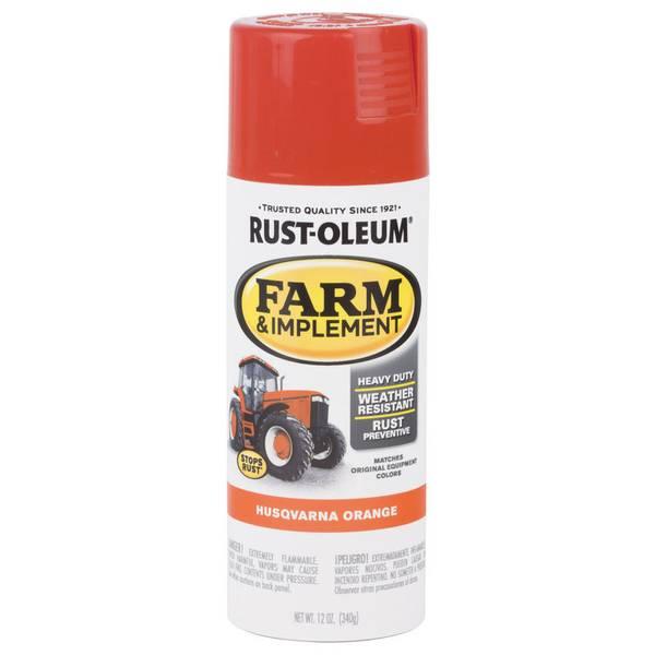 Rust Oleum Farm Amp Implement Husqvarna Orange Spray Paint