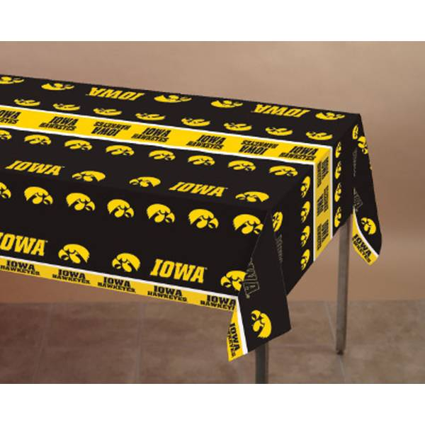 Creative Converting Iowa Hawkeyes Plastic Banquet Table Cover