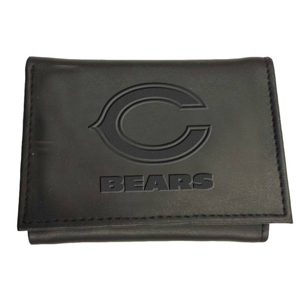 Leather Chicago Bears Tri-Fold Wallet
