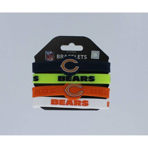 Chicago Bears Silicone Rubber Wrist Band Bracelet