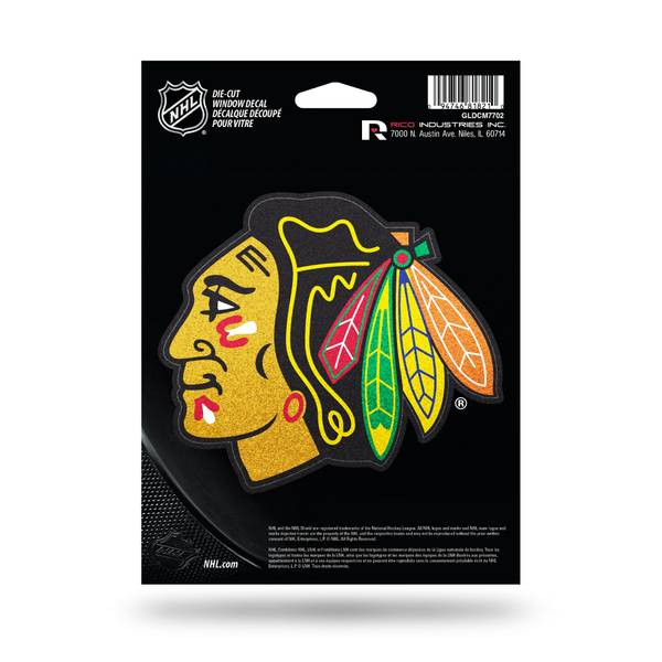 Chicago Blackhawks Bling Medium Die-Cut Window Decal