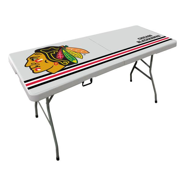 Chicago Blackhawks 6' Bifold Table