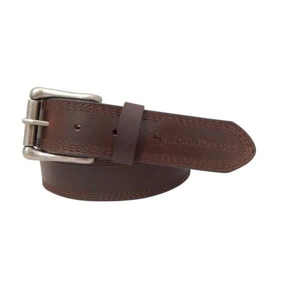 deere s brown leather belt