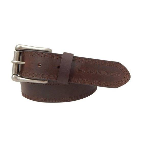 deere big s brown leather belt
