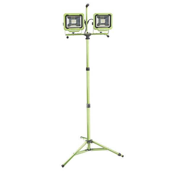 Dual-Head 60W 6000 Lumen LED Work Light with Tripod