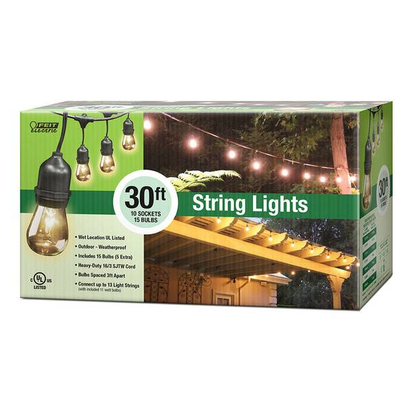 Outdoor String Lights Electric : FEIT Electric Outdoor String Light Set