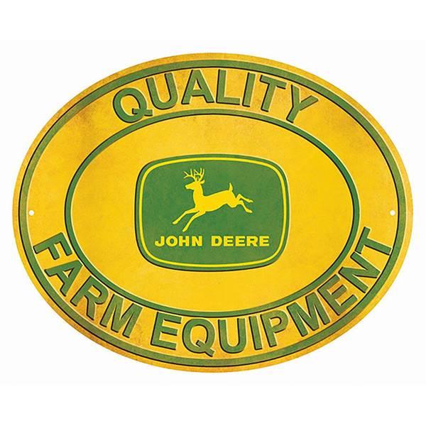 John Deere Quality Farm Equipment Oval Sign At Blain S