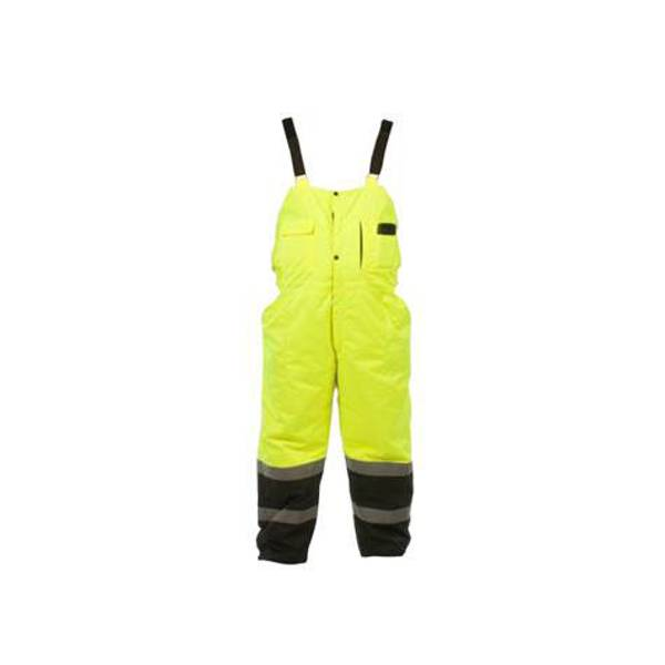 Men's Yellow Hi-Vis Class E Insulated Bibs