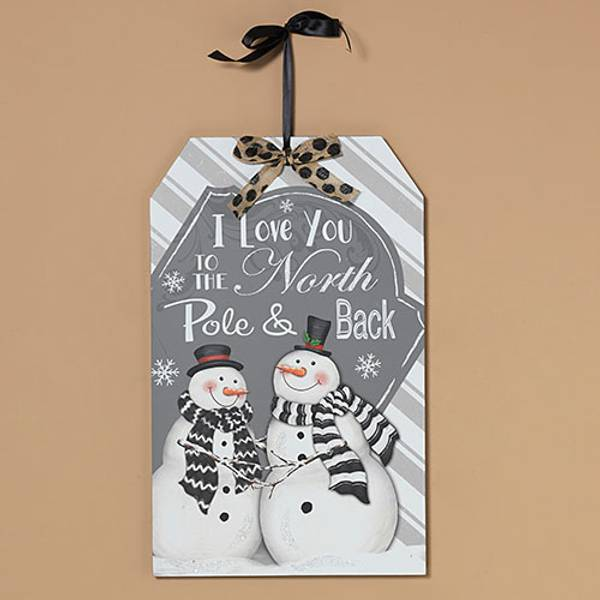 Gerson international 19 love you to the north pole wall decor for Decor products international