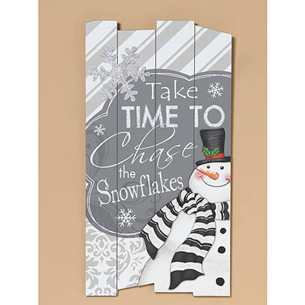 Gerson international 26 time to chase snowman wall decor for Decor products international