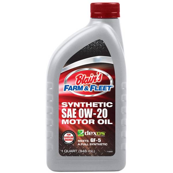 Blain 39 s farm fleet full synthetic sae 0w 20 motor oil for Sae 0w 20 synthetic motor oil