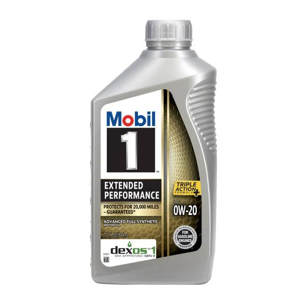 Mobil 1 extended performance formula 0w 20 for How much is motor oil at autozone